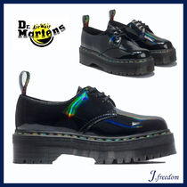 Dr Martens Round Toe Rubber Sole Casual Style Leather