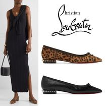 Christian Louboutin Leopard Patterns Studded Other Animal Patterns Leather