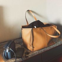 LOEWE A4 Plain Leather Totes