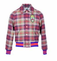 GUCCI Short Other Check Patterns Wool Blended Fabrics Street Style