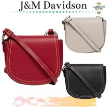 J & M Davidson Plain Leather Shoulder Bags