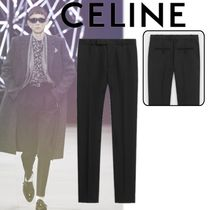 CELINE Tapered Pants Wool Plain Tapered Pants