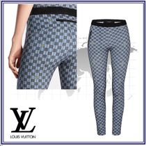 Louis Vuitton Nylon Blended Fabrics Elegant Style Skinny Pants