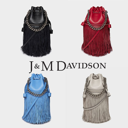 Casual Style Tassel Street Style Leather Purses Fringes