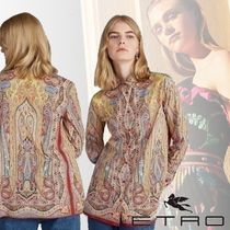 ETRO Paisley Long Sleeves Cotton Shirts & Blouses
