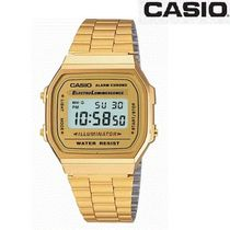 CASIO Unisex Street Style Square Stainless Digital Watches