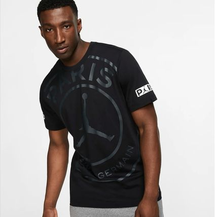 Nike More T-Shirts Street Style U-Neck Collaboration Cotton Short Sleeves Logo