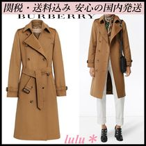 Burberry Plain Elegant Style Trench Coats