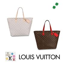 Louis Vuitton DAMIER AZUR Other Check Patterns Canvas Blended Fabrics Bag in Bag A4