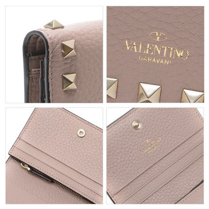 VALENTINO Folding Wallets Street Style Leather Folding Wallets 10