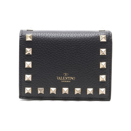 VALENTINO Folding Wallets Street Style Leather Folding Wallets 2