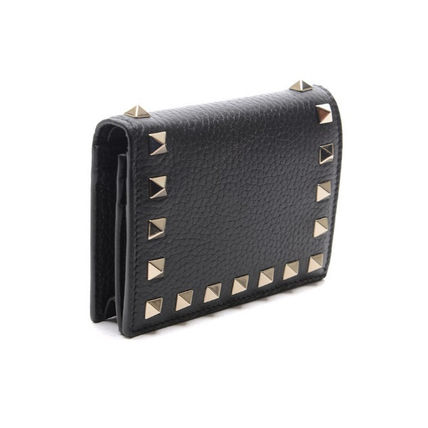 VALENTINO Folding Wallets Street Style Leather Folding Wallets 4