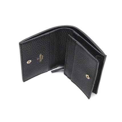 VALENTINO Folding Wallets Street Style Leather Folding Wallets 5