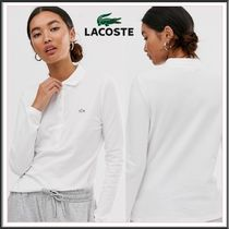 LACOSTE Long Sleeves Plain Cotton Polo Shirts