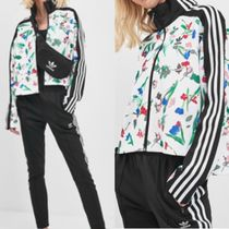 adidas Flower Patterns Casual Style Street Style Long Sleeves Tops