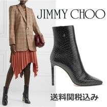Jimmy Choo Square Toe Blended Fabrics Other Animal Patterns Leather
