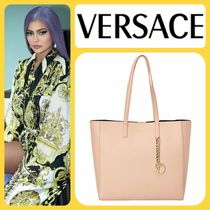 VERSACE A4 Leather Elegant Style Totes