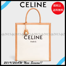 CELINE Unisex Canvas Blended Fabrics A4 2WAY Totes