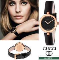 GUCCI Casual Style Street Style Leather Round Party Style