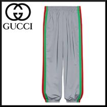 GUCCI Stripes Street Style Plain Bottoms