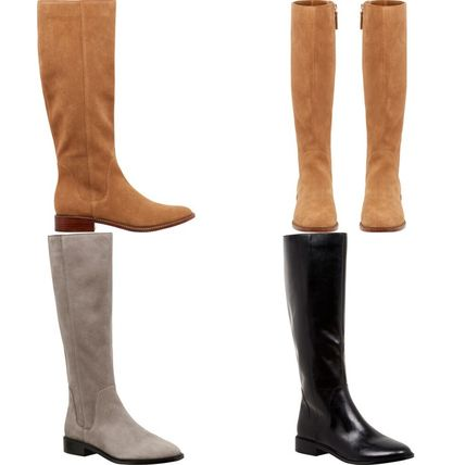 Casual Style Plain Block Heels Boots Boots