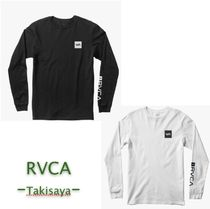 RVCA Crew Neck Street Style Long Sleeves Cotton