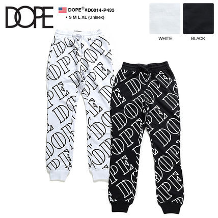 Monogram Unisex Sweat Street Style Logo Pants
