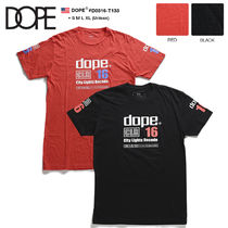 DOPE couture Crew Neck Unisex Street Style Cotton Short Sleeves Oversized