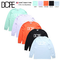 DOPE couture Crew Neck Pullovers Unisex Street Style Long Sleeves Cotton