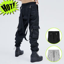 OPEN THE DOOR Unisex Street Style Plain Joggers & Sweatpants