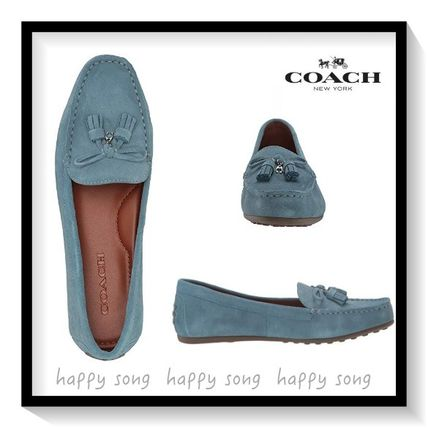 Casual Style Suede Tassel Plain Loafer & Moccasin Shoes
