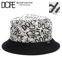 DOPE couture Unisex Street Style Bucket Hats Wide-brimmed Hats