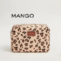 MANGO Leopard Patterns Pouches & Cosmetic Bags