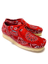 Supreme Paisley Suede Street Style Collaboration Logo Shoes