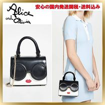 Alice+Olivia 2WAY Chain Plain Leather Party Style Crossbody Shoulder Bags