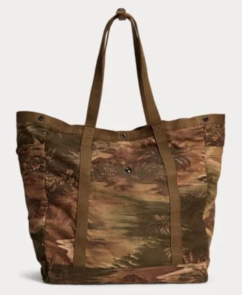 RRL Tropical Patterns Unisex Street Style Totes
