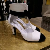 CHANEL Sheepskin Blended Fabrics Plain High Heel Pumps & Mules