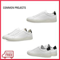 Common Projects Round Toe Rubber Sole Lace-up Casual Style Street Style