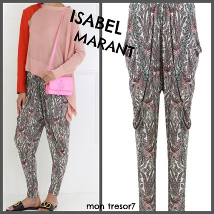 Paisley Silk Long Pants