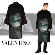 VALENTINO Wool Long Chester Coats