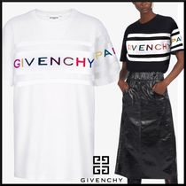 GIVENCHY Crew Neck Stripes Unisex Short Sleeves T-Shirts