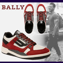 BALLY Unisex Blended Fabrics Street Style Leather Sneakers