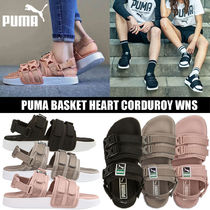 PUMA Open Toe Rubber Sole Casual Style Street Style Plain