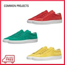 Common Projects Unisex Suede Street Style Plain Sneakers