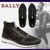 BALLY Unisex Suede Blended Fabrics Street Style Sneakers