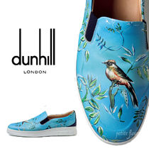 Dunhill Tropical Patterns Street Style Leather Deck Shoes