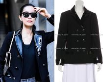 CHANEL TIMELESS CLASSICS CHANEL Black Creme Patent Leather Jacket F42