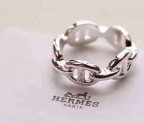 HERMES Chaine dAncre Casual Style Silver Rings