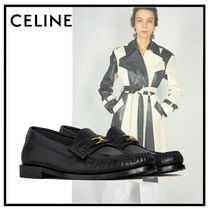 CELINE Plain Leather Office Style Loafer Pumps & Mules