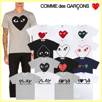 COMME des GARCONS Crew Neck Unisex Street Style Cotton Short Sleeves Logo